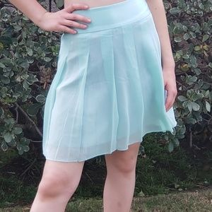 Banana Republic mint green Silk and Satin skirt